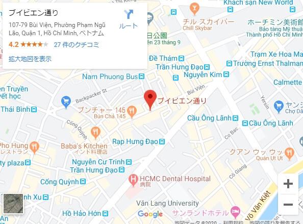 ブイビエン通り,Bui Vien Street,地図
