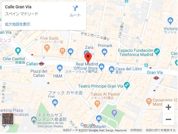 Gran Via駅周辺と地図