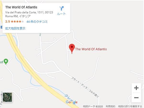アトランティス,地図