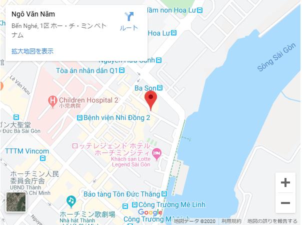 ゴーバンナム通り,地図
