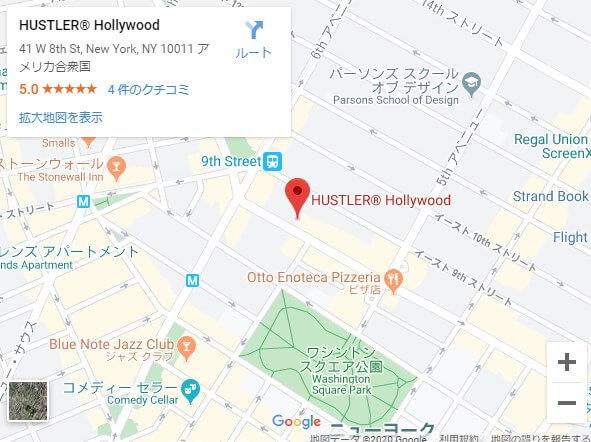 ハスラーハリウッド,ニューヨーク,地図