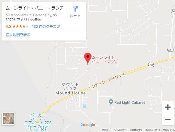 ムーンライトバニー,地図