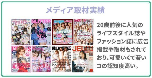 PCMAXはたくさんの女性の雑誌に掲載されている